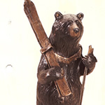 cabin skiing bear decor